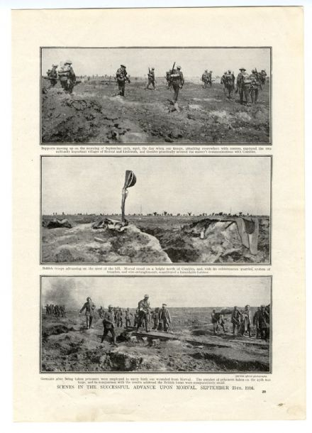 1916 MORVAL ADVANCE on the Somme 25th September